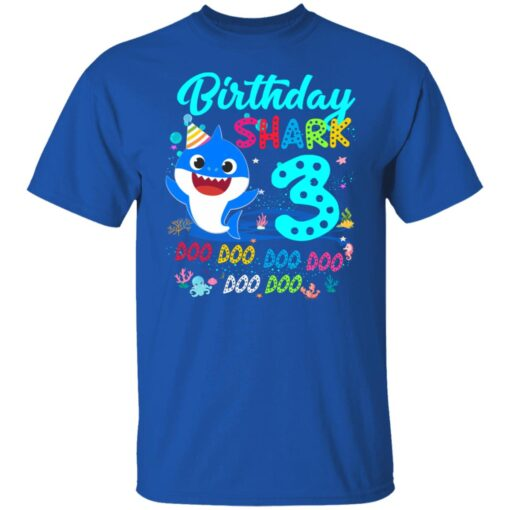Baby Shark 3rd Birthday Shirt Boys Girls 3 Year Old Birthday T-Shirt 6 of Sapelle