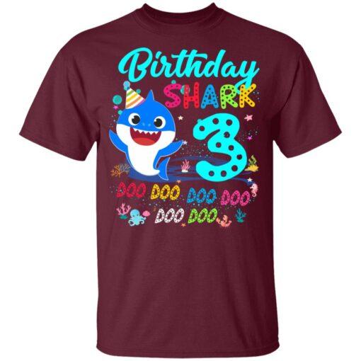 Baby Shark 3rd Birthday Shirt Boys Girls 3 Year Old Birthday T-Shirt 9 of Sapelle