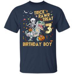 Trick Rawr Treat Skeleton Dinosaur Halloween 3rd Birthday T-Shirt 35 of Sapelle