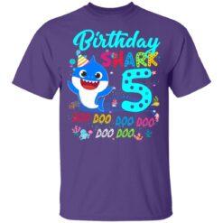 Baby Shark 5th Birthday Shirt Boys Girls 5 Year Old Birthday T-Shirt 37 of Sapelle
