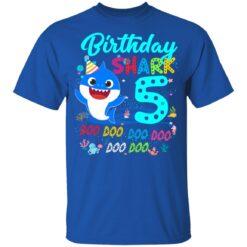 Baby Shark 5th Birthday Shirt Boys Girls 5 Year Old Birthday T-Shirt 39 of Sapelle