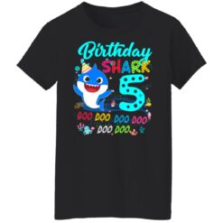 Baby Shark 5th Birthday Shirt Boys Girls 5 Year Old Birthday T-Shirt 41 of Sapelle