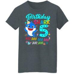 Baby Shark 5th Birthday Shirt Boys Girls 5 Year Old Birthday T-Shirt 43 of Sapelle