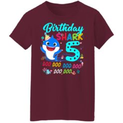 Baby Shark 5th Birthday Shirt Boys Girls 5 Year Old Birthday T-Shirt 45 of Sapelle