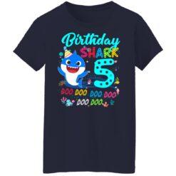 Baby Shark 5th Birthday Shirt Boys Girls 5 Year Old Birthday T-Shirt 47 of Sapelle