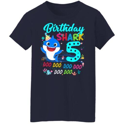 Baby Shark 5th Birthday Shirt Boys Girls 5 Year Old Birthday T-Shirt 16 of Sapelle