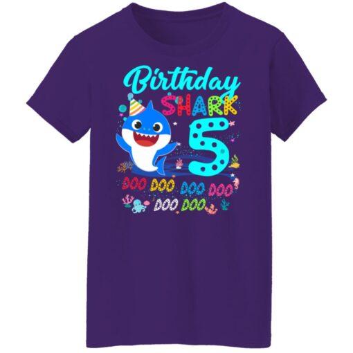 Baby Shark 5th Birthday Shirt Boys Girls 5 Year Old Birthday T-Shirt 17 of Sapelle