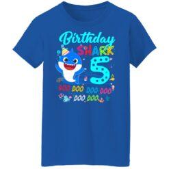 Baby Shark 5th Birthday Shirt Boys Girls 5 Year Old Birthday T-Shirt 51 of Sapelle