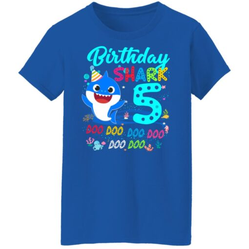 Baby Shark 5th Birthday Shirt Boys Girls 5 Year Old Birthday T-Shirt 18 of Sapelle