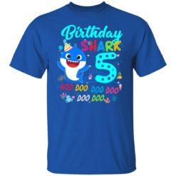 Baby Shark 5th Birthday Shirt Boys Girls 5 Year Old Birthday T-Shirt 27 of Sapelle