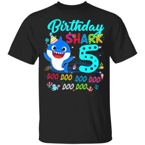 Baby Shark 5th Birthday Shirt Boys Girls 5 Year Old Birthday T-Shirt 7 of Sapelle