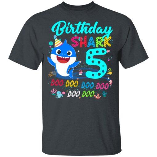Baby Shark 5th Birthday Shirt Boys Girls 5 Year Old Birthday T-Shirt 8 of Sapelle