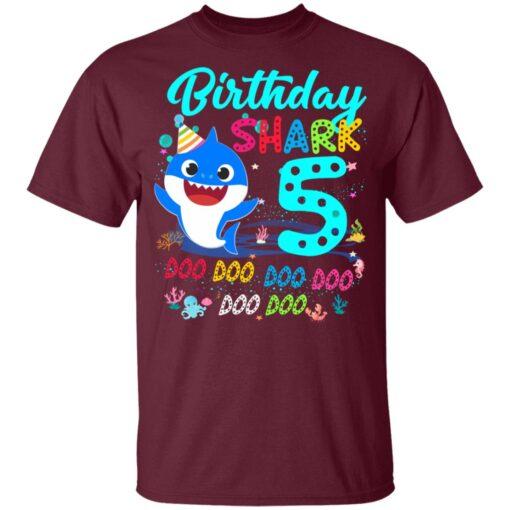 Baby Shark 5th Birthday Shirt Boys Girls 5 Year Old Birthday T-Shirt 9 of Sapelle