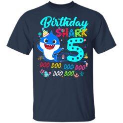Baby Shark 5th Birthday Shirt Boys Girls 5 Year Old Birthday T-Shirt 35 of Sapelle