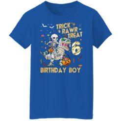 Trick Rawr Treat Skeleton Dinosaur Halloween 6th Birthday T-Shirt 51 of Sapelle