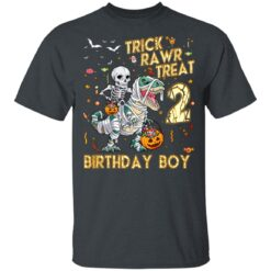 Trick Rawr Treat Skeleton Dinosaur Halloween 2nd Birthday T-Shirt 31 of Sapelle