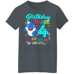 Baby Shark 4th Birthday Shirt Boys Girls 4 Year Old Birthday T-Shirt 43 of Sapelle