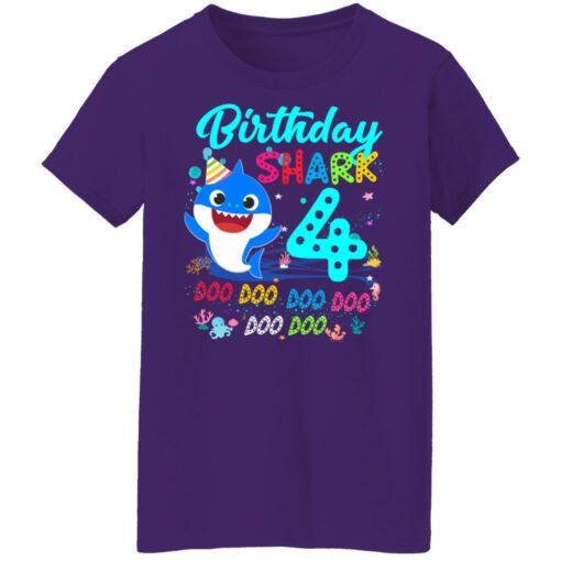Baby Shark 4th Birthday Shirt Boys Girls 4 Year Old Birthday T-Shirt 17 of Sapelle