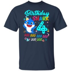 Baby Shark 4th Birthday Shirt Boys Girls 4 Year Old Birthday T-Shirt 23 of Sapelle