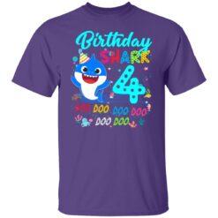 Baby Shark 4th Birthday Shirt Boys Girls 4 Year Old Birthday T-Shirt 25 of Sapelle