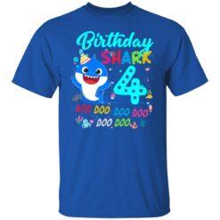 Baby Shark 4th Birthday Shirt Boys Girls 4 Year Old Birthday T-Shirt 27 of Sapelle