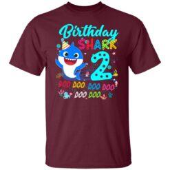 Baby Shark 2nd Birthday Shirt Boys Girls 2 Year Old Birthday T-Shirt 21 of Sapelle