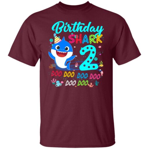 Baby Shark 2nd Birthday Shirt Boys Girls 2 Year Old Birthday T-Shirt 3 of Sapelle
