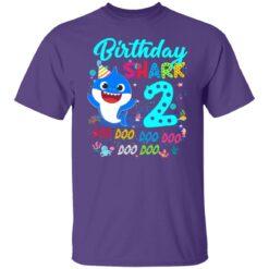 Baby Shark 2nd Birthday Shirt Boys Girls 2 Year Old Birthday T-Shirt 25 of Sapelle