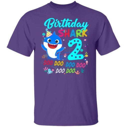 Baby Shark 2nd Birthday Shirt Boys Girls 2 Year Old Birthday T-Shirt 5 of Sapelle
