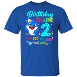 Baby Shark 2nd Birthday Shirt Boys Girls 2 Year Old Birthday T-Shirt 27 of Sapelle