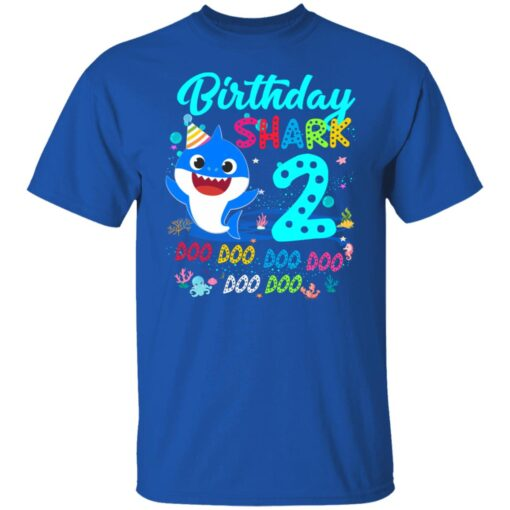 Baby Shark 2nd Birthday Shirt Boys Girls 2 Year Old Birthday T-Shirt 6 of Sapelle