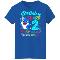 Baby Shark 2nd Birthday Shirt Boys Girls 2 Year Old Birthday T-Shirt 51 of Sapelle