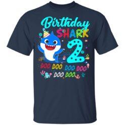 Baby Shark 2nd Birthday Shirt Boys Girls 2 Year Old Birthday T-Shirt 35 of Sapelle