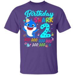 Baby Shark 2nd Birthday Shirt Boys Girls 2 Year Old Birthday T-Shirt 37 of Sapelle