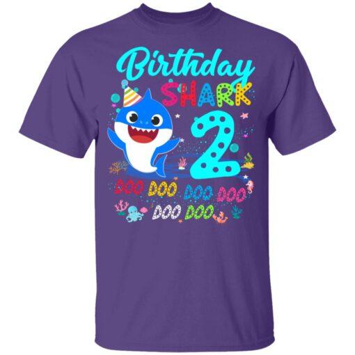 Baby Shark 2nd Birthday Shirt Boys Girls 2 Year Old Birthday T-Shirt 11 of Sapelle