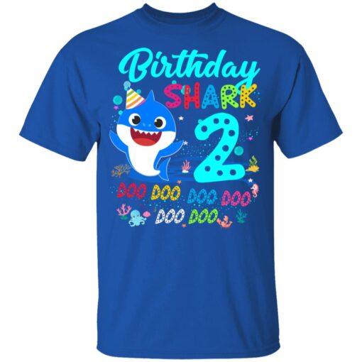 Baby Shark 2nd Birthday Shirt Boys Girls 2 Year Old Birthday T-Shirt 12 of Sapelle