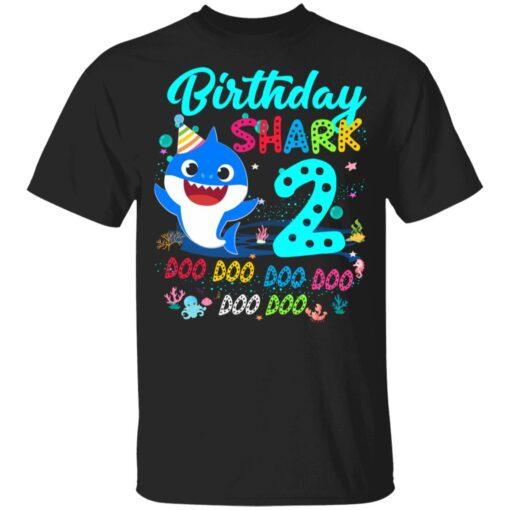 Baby Shark 2nd Birthday Shirt Boys Girls 2 Year Old Birthday T-Shirt 7 of Sapelle