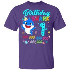 Baby Shark 1st Birthday Shirt Girl Boy 1 Year Old Birthday T-Shirt 37 of Sapelle
