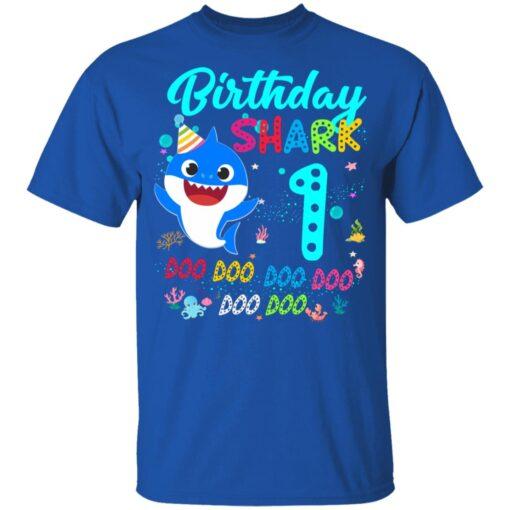 Baby Shark 1st Birthday Shirt Girl Boy 1 Year Old Birthday T-Shirt 12 of Sapelle