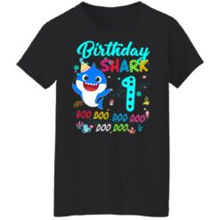 Baby Shark 1st Birthday Shirt Girl Boy 1 Year Old Birthday T-Shirt 41 of Sapelle