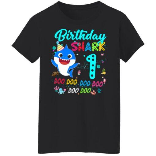 Baby Shark 1st Birthday Shirt Girl Boy 1 Year Old Birthday T-Shirt 13 of Sapelle