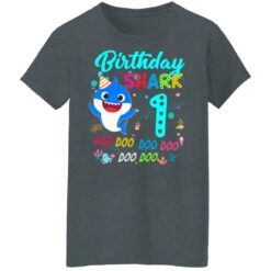 Baby Shark 1st Birthday Shirt Girl Boy 1 Year Old Birthday T-Shirt 43 of Sapelle