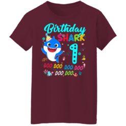 Baby Shark 1st Birthday Shirt Girl Boy 1 Year Old Birthday T-Shirt 45 of Sapelle
