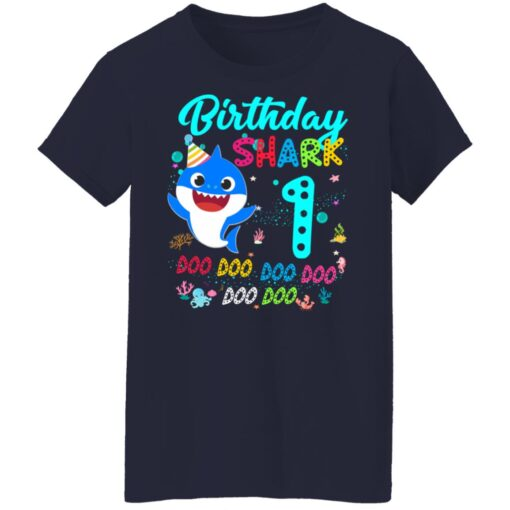 Baby Shark 1st Birthday Shirt Girl Boy 1 Year Old Birthday T-Shirt 16 of Sapelle