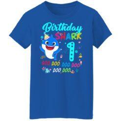 Baby Shark 1st Birthday Shirt Girl Boy 1 Year Old Birthday T-Shirt 51 of Sapelle