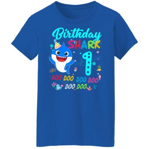 Baby Shark 1st Birthday Shirt Girl Boy 1 Year Old Birthday T-Shirt 18 of Sapelle
