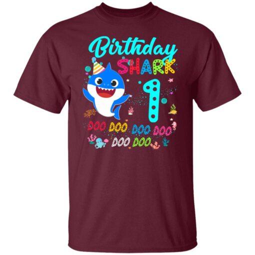 Baby Shark 1st Birthday Shirt Girl Boy 1 Year Old Birthday T-Shirt 3 of Sapelle