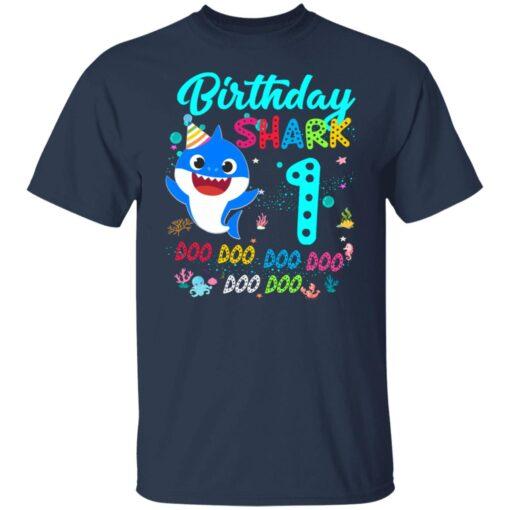 Baby Shark 1st Birthday Shirt Girl Boy 1 Year Old Birthday T-Shirt 4 of Sapelle