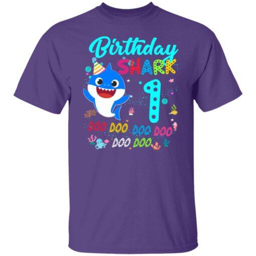 Baby Shark 1st Birthday Shirt Girl Boy 1 Year Old Birthday T-Shirt 5 of Sapelle
