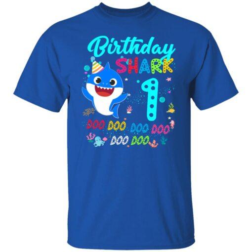 Baby Shark 1st Birthday Shirt Girl Boy 1 Year Old Birthday T-Shirt 6 of Sapelle